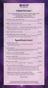 Peppermill Las Vegas Restaurant Menu